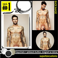 Adam Levine Keychain + Button Or Magnet Or Mirror Key Ring Maroon 5 Nude 1040