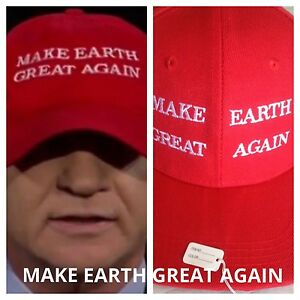Details about BILL MAHER MAKE EARTH GREAT AGAIN TRUMP Inspired Red HAT Cap  EMBROIDERED Parody