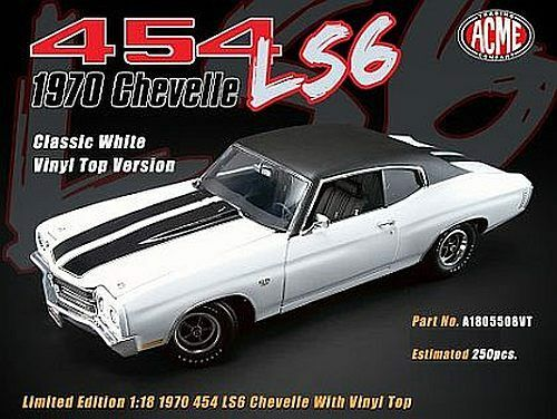 1970 Chevelle Silber 1 18 1805506 w vinyl top