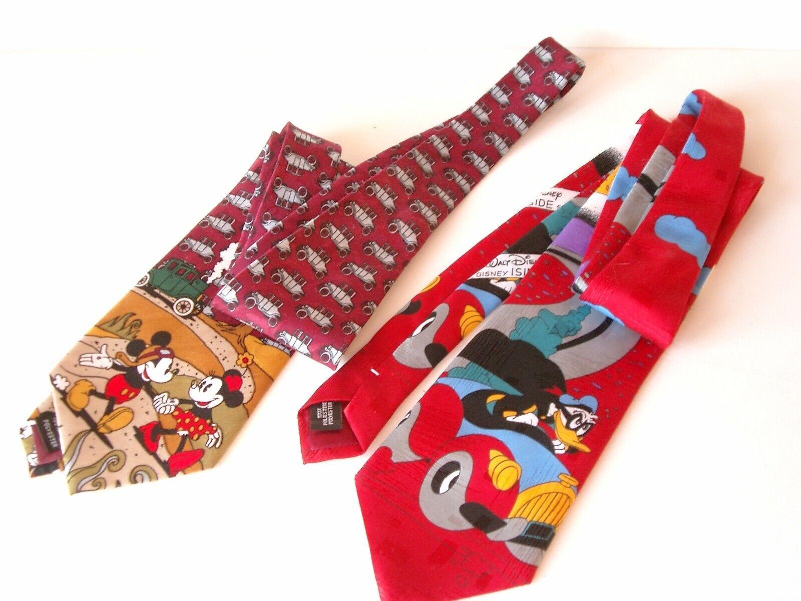 2 Herren Krawatten mit Walt Disney Motiv
