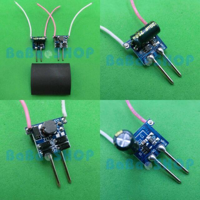 2pcs AC/DC Driver 12V High Power Supply 1x1W 3x1W for LED Light Lamp MR16 1W 3W