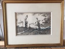 """tableau de HARPIGNIES Henri-Joseph ( 1819-1916) """" Horizon bleu"""""""