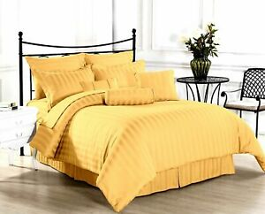 Scala Bedding Items 1000 Thread Count Egyptian Cotton Yellow Stripe All Size*