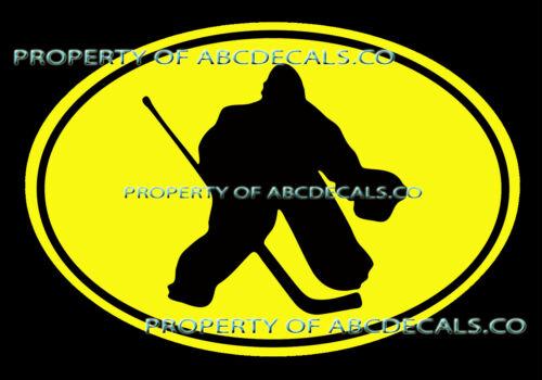 VRS OVAL HOCKEY Goalie Mask Stick Pads Block Puck Goal CAR DECAL VINYL STICKER