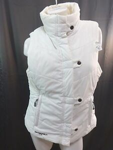 ZEROXPOSUR-WOMENS-OFF-WHITE-POLYESTER-QUILTED-VEST-SIZE-M