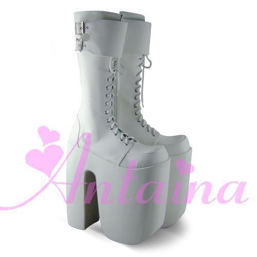 Punk Gothic Lolita Cosplay Boots Super High Heel 7008-25 Custom Made