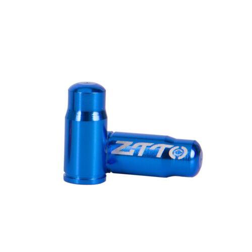 Vendeur Britannique * 2 x Zitto Bleu Aluminium Presta Valve Cap//Housse