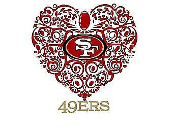 San Francisco 49ers vinyl sticker for skateboard luggage laptop tumblers car