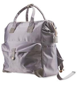Mamia-Backpack-Changing-Bag-Grey-Changing-Mat-Insulated-Bottle-Holder-New-Tags