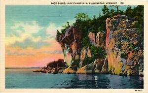 Vintage Postcard - Rock Point Lake Champlain Burlington Vermont VT #1855