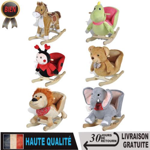 Animaux à Bascule en Peluche Jouet pour Bébés Enfants Jouet licorne Animal