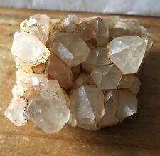 UK NEW NATURAL QUARTZ CRYSTAL CLUSTER 121 GRAMS  SIZE 65x55x35MM No25