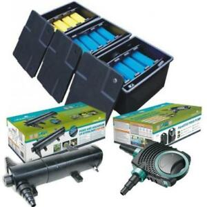 Complete-Koi-Fish-Box-Filter-System-Pond-Pump-UV-Steriliser-Flexible-Hose