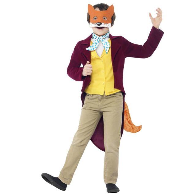 Bambino Fantastic Mr.Fox Costume Roald Dahl Libro Settimana Età Vestito 4-12