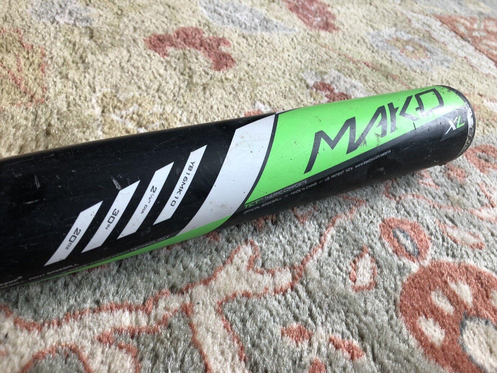 Easton Mako Xl YB16MK10 30 20 usssa bate de béisbol Excelente Estado