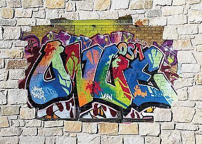 Sticker mural trompe l/'oeil Tyrex Dinosaure réf 868