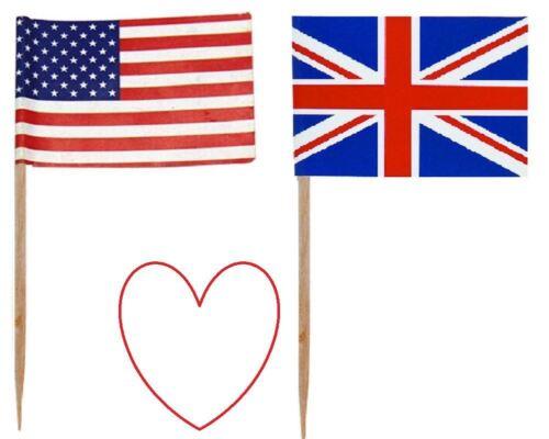 Bandera de Estados Unidos selecciones GB Banderas cócteles de frutas Decoración de fiesta de partidos Vajilla