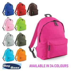Unisex-Rucksack-Backpack-BagBase-Fashion-Travel-Bag-School-Men-Women