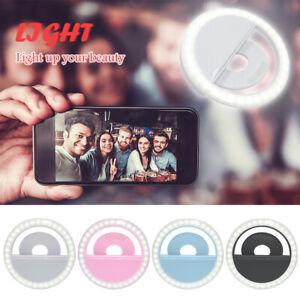Selfie-Licht-Ring-mit-USB-Kabel-Fotolicht-Studiolicht-fuer-Selfie-Handy-Flash-LED