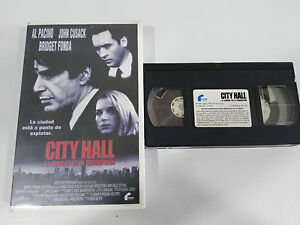 CITY-HALL-AL-PACINO-JOHN-CUSACK-BRIDGET-FONDA-VHS-TAPE-COLECCIONISTA-CASTELLANO