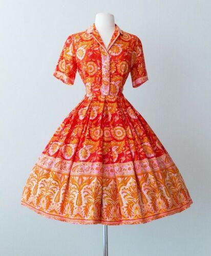Norman Wiatt Silk 1950s House Dress -  Stunning Co