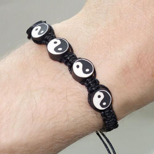Yin Yang Friendship Charm Bracelet Wristband Feng Shui Yoga Fashion Jewellery