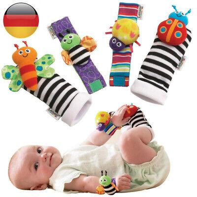 Baby Kinder Handgelenkbänder Socken 2 Paare Handgelenk-Rassel Baby Spielzeug