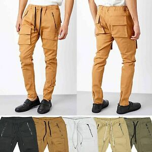 cd2b8b57bc7 KDNK Men s Twill Slim Tapered Fit Jogger Pants with 3D Cargo Pockets ...