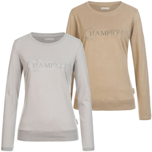 Champion Damen Freizeit Langarm Sweatshirt 106633-8731 106633-8725 grau beige