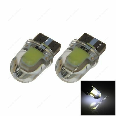 2x White Car LED T10 W5W 2 COB Car Side Clearance Lamp Roof Light Reading Bulb