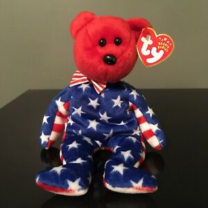 Ty Beanie Babies Liberty With Red Head Birthday June 14th, 2001 Sm Tushtag Hole