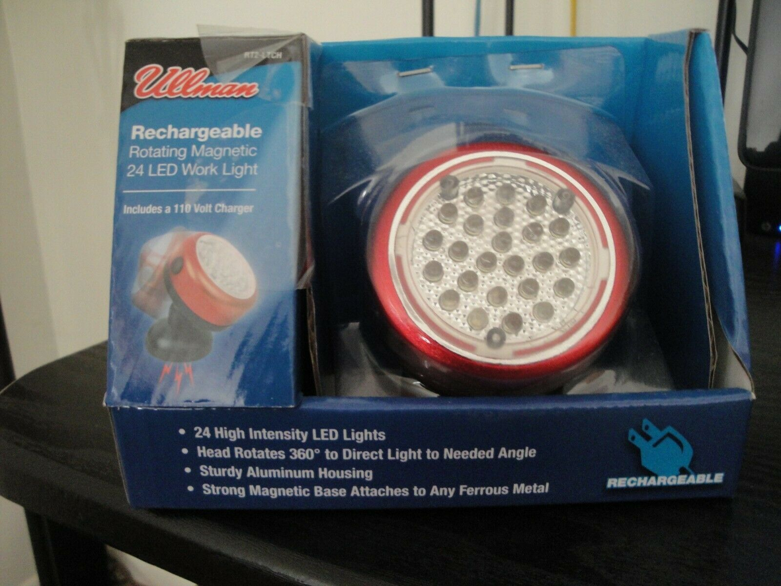 Ullman Devices Corp. RT2LTCH 24 Led Rechargeable rossoating Magnetic