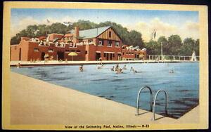 Moline illinois 1940 39 s public swimming pool ebay Public swimming pools in quincy il