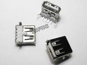 10PCS 4-Pin USB-A usb a Female Socket Connector