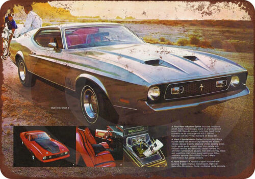 1971 Mustang Mach 1 Reproduction Metal Sign 8 x 12 made in the USA