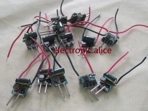 M16 3w 3 Watt 3x1w Alta Potencia Led Controlador De Voltaje de entrada 6v-11v 300ma 10 Piezas