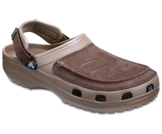 3ecdee277c081 Crocs Yukon Vista Clog M Men's Khaki Leather Croslite Clogs With ...