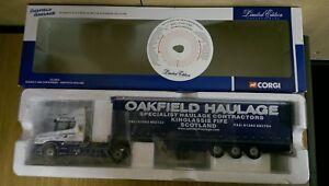 Corgi-CC12811-Scania-T-Curtainside-Oakfield-Haulage-Ltd-Ed-No-0001-of-3400