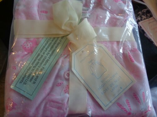 Pottery Barn Kids Bunny Nightgown size 4 pink New