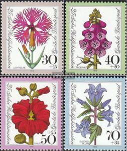 BRD-BR-Deutschland-818-821-kompl-Ausgabe-postfrisch-1974-Wohlfahrt-Blumen