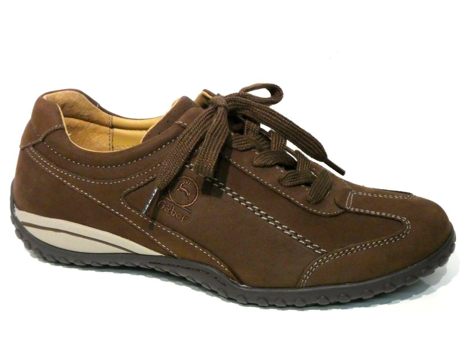 Gabor Schuhe Schnürschuhe Turnschuhe braun nougat bequem Weit Leder Einlagen