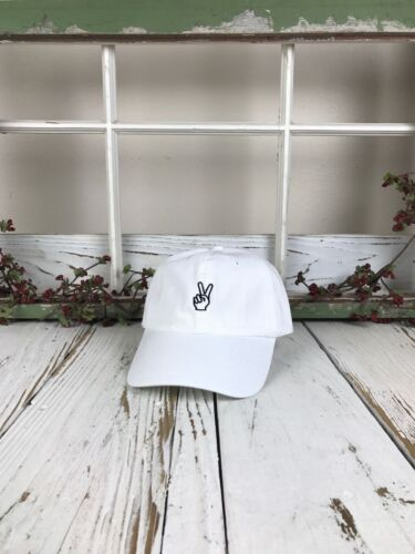 Many Styles Peace Hands Embroidered Baseball Cap Dad Hat