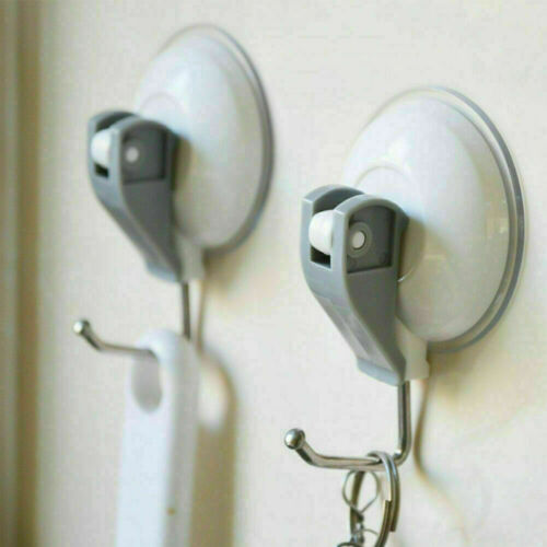 2X EXTRA HEAVY DUTY LEVER SUCTION CUP HOOKS Bathroom//Kitchen super J N2A5 P6A1