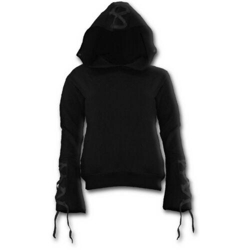 Black Gothic Elegance Black Ribbon Gothic Women/'s X-Large Hoodie