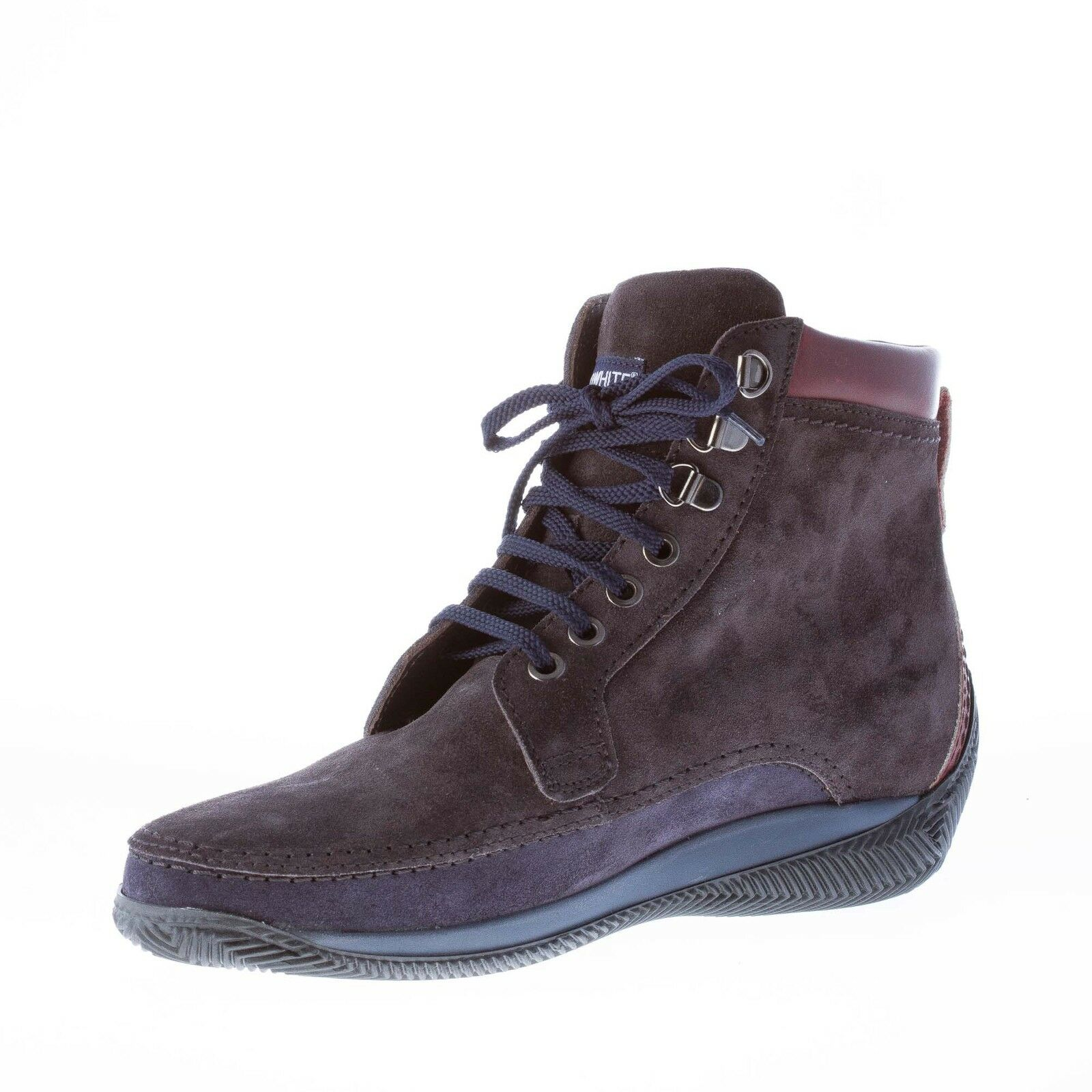 LO suede WHITE herren schuhe men shoes Two-tones grey suede LO laced boot brown leather 9095be