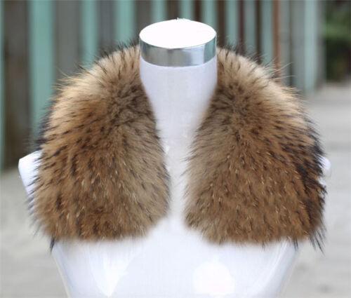 Real Raccoon Fur Collar Genuine Pretty Scarf  Shawl Wrap Fluffy Wraps Newest