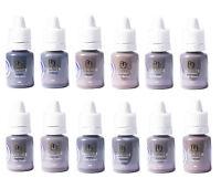 Semi Permanent Makeup Pigments, Luanes Eyebrow Set 12 Colors Micropigments, Spmu