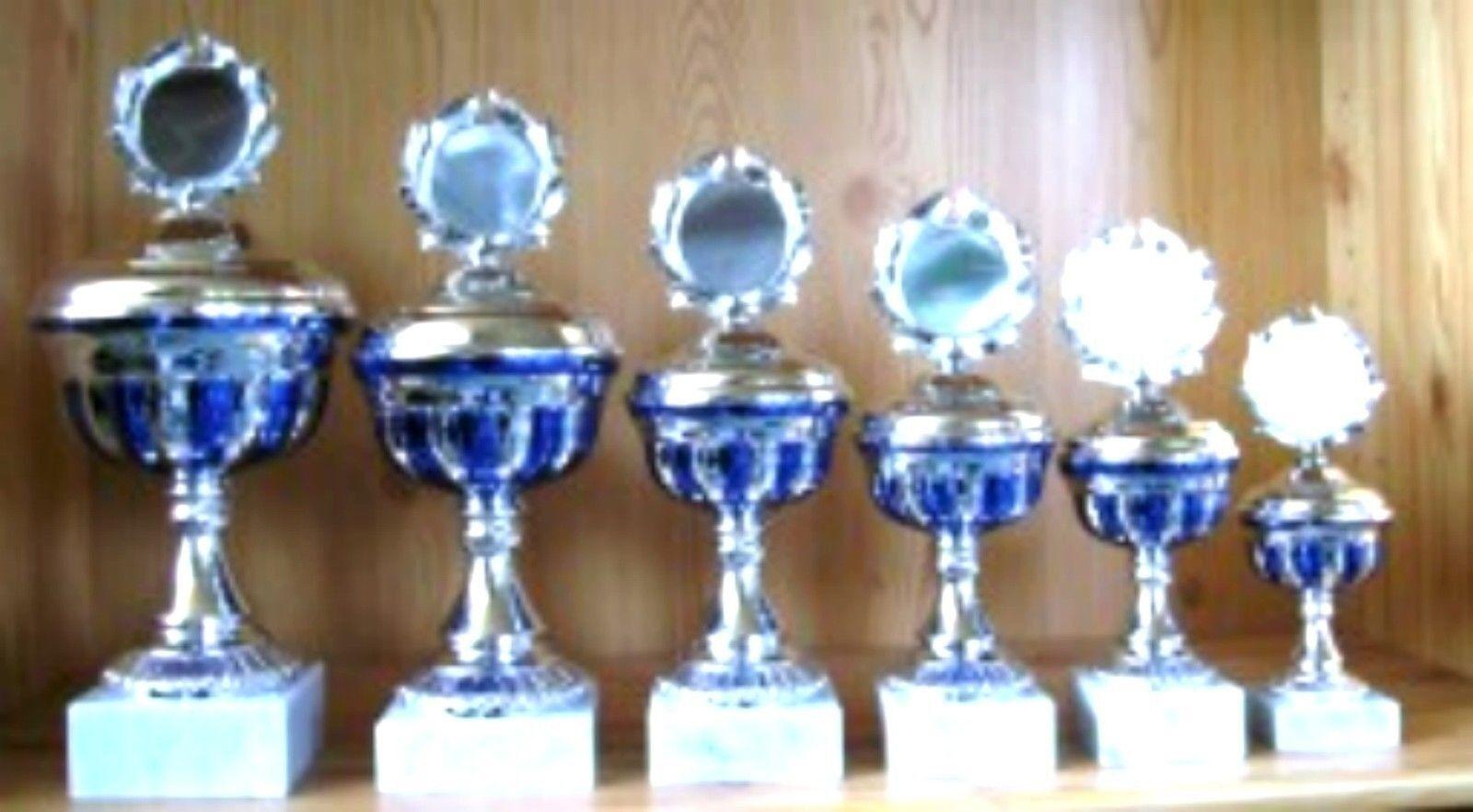 10er serie premiazioni 31 a 20 cm scaglionate in con emblema  incisione  58 COPPA torneo