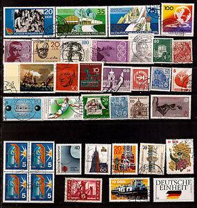 ALLEMAGNE1-BLOC-DE-4-T-32-timbres-obliteres-sujets-divers-faciale-en-DM-168T5