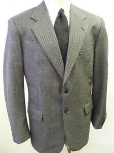 Dettagli su Da Uomo Marco Carelli bluetan PIED DE POULE Misto Lana Blazer Sport Cappotto Giacca 42 L mostra il titolo originale